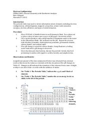 Lab Report-Electron Configuration