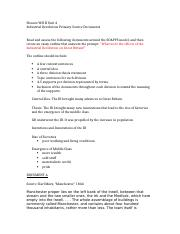 Honors WH II Unit 4 Primary Source Document Essay Outline Workshop