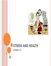 Chapter 11 Stress and Health