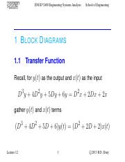 Lecture 12 - Oct.17.2013 - Block Diagrams & Numerical Solutions