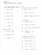Ch. 8 8.6 Worksheet on Solving