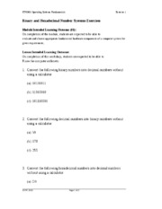 Binary and Hexadecimal Number Systems Exercises.doc
