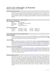 ACCY 312 Syllabus Fall 2013 - DONOHOE