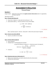 CIVE 313 assignment 6 solutions
