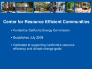 Center for Resource Efficient Communities