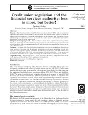 Credit union regulation and the financial services authority less is more, but better!.pdf