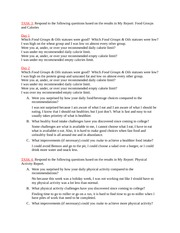 Healthy Body Project Tasks 3 and 4