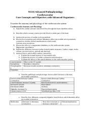 N5315 Cardiovascular Core Knowledge Objectives with Advanced Organizers.docx