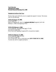 YU 3541 Fall2008, Remediation Plan
