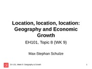 EH101 WK9 Geography  Growth