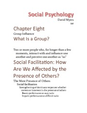 Chapter 8 - Group Influence