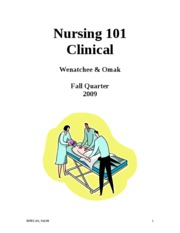 101 Clinical Syllabi F 09