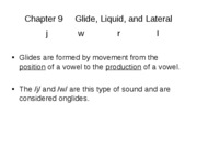 Chapter 9     Glide, Liquid, and Lateral