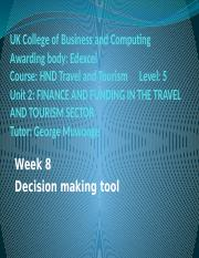 Decision making tool