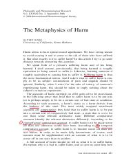 the metaphysics of harm