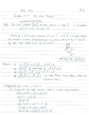 Lecture Notes on the Cross Product