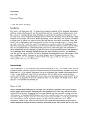 Job design essay