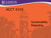 ACCT 410 Sustainability Reporting