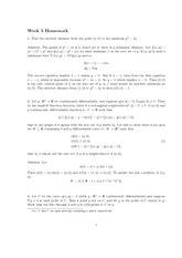 Homework 5 Solution Spring 2013 on Advanced Multivariable Calculus