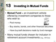 Chapter-13 Investing in Mutual Funds