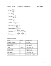 Problem sets and Midterm Solutions