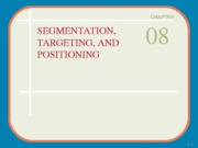 Chap008 Segmentation Targeting and Positioning_ToPost