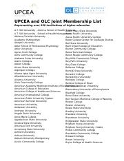 UPCEA and OLC Joint Membership List Doc