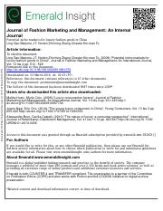 market potential journal