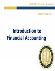 introduction to financial accounting problem 10 1a Assignments lec # topics assignments 1: overview and introduction - setting the stage and the course framework: graded assignment: problem set 1 (new england.