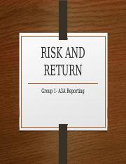 RISK AND RETURN.pptx