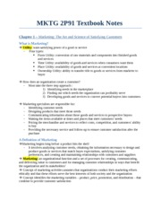 MKTG 2P91 Textbook Notes - Chapter 1