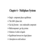 CL-201 Chapter6_Multiphase system