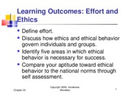 Chapter 22 - Effort and Ethics