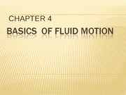 lect.6 BASICS OF FLUID FLOW