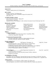 Engineering Chronological Resume 2015