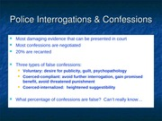 Police Investigations and Confessions Slides