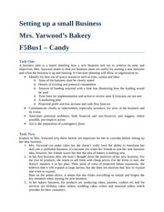 Setting Up A Small Business - Mrs. Yarwood's Bakery