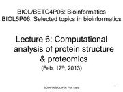 Lecture6ProteinStructure