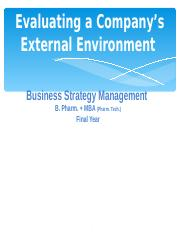 Evaluating a Company's External Environment.ppt