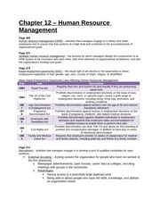 Study Guide - Chapter 12 - Human Resource Management