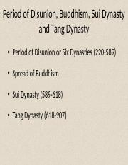 Buddhism, Disunity, Sui and Tang .pptx