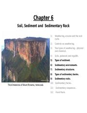 Lecture 6_ Ch. 6 (Sediment and Sedimentary Rock)