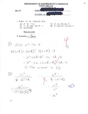 calc MATH 1823 Quiz 2 Solutions