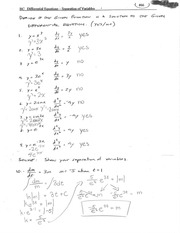 Differential Equations - Separation of Variables