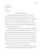 School shooting paper