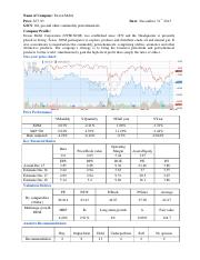 FINANCIAL TEAR SHEET