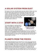 A SOLAR SYSTEM FROM DUST