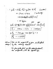 Solutions for Practice Problems for Exam 1