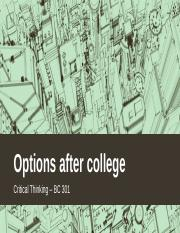 Options after college.pptx