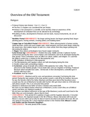 Religion 1009 Overview of the Old Testament